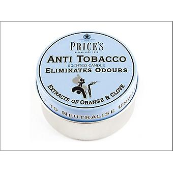 Prices Scented Candle Tin Anti Tobacco FR110316