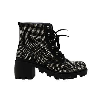 Madden Girl Womens Dymond Fabric Closed Toe Ankle Fashion Boots