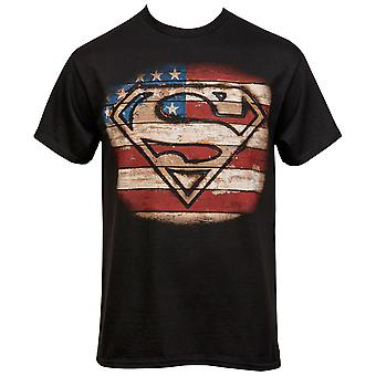 スーパーマンバーントウッドシンボルTシャツ