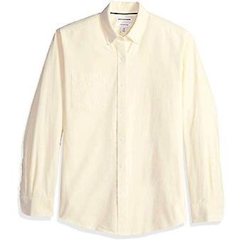 أساسيات الرجال & apos;ق العادية تناسب طويلة الأكمام الصلبة جيب قميص أكسفورد, يي ...