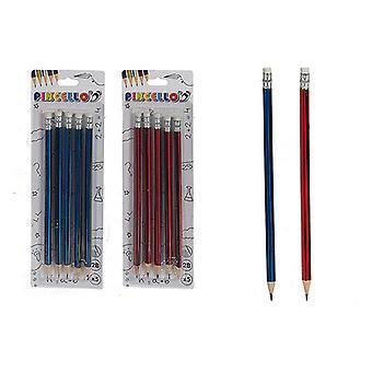 Pencil Set Eraser (5 Pieces)
