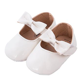 Solid Leather, Anti-slip Crib Shoes For Newborn Babies