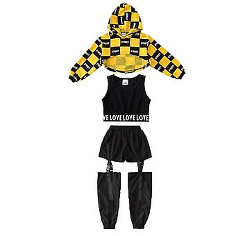 Kinder/Mädchen Langarm Hip-Hop Jazz Dance Ballroom Kleidung