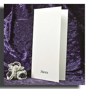 10 White Textured Menus