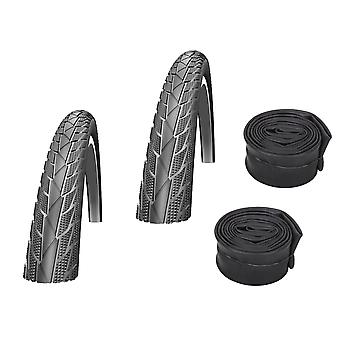 "Velo.Set 2 x Impac Streetpac Bicycle Tires = 47-559 (26×1.75"") + Hoses"