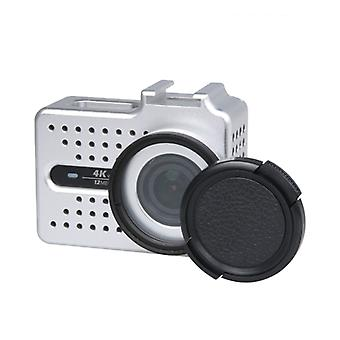 CNC الألومنيوم سبائك الحماية حالة واقية مع فلتر الأشعة فوق البنفسجية & عدسة الغطاء الواقي ل Xiaomi Xiaoyi يي الثاني 4K كاميرا العمل الرياضي (فضة)