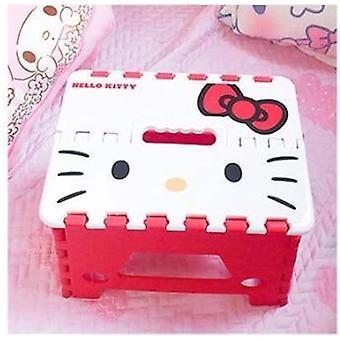 Folding og skrive en plast krakk søt rosa kitty katt & apos; s avføring utendørs fiske