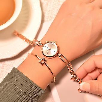 女性のブレスレットの腕時計、ステンレス鋼クォーツ腕時計