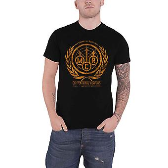 My Chemical Romance T Shirt Conventional Weapons Band Logo Official Mens Black