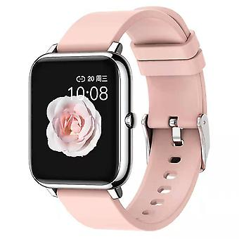 Smart Watch Fitness Tracker vattentät helpekskärm Bluetooth Smartwatch Rosa