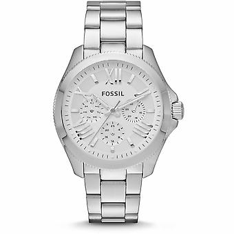 Fossil AM4509 Cecile Chronograph Silver Dial Stainless Steel Ladies Watch