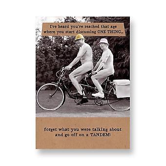 Pigment Riff Raff - Go Off On A Tandem - Birthday Card Rw196a