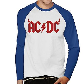 AC/DC Devil Horns Logo Men's Baseball Long Sleeved T-Shirt