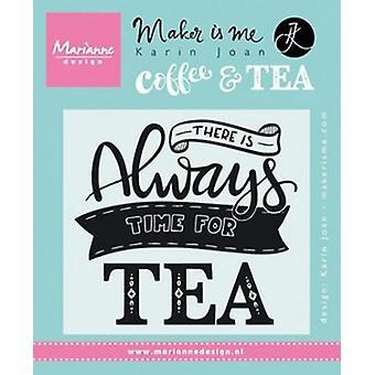 Marianne Design Timbro preventivo - C'è sempre tempo per il tè (en) Kj1707 9.0x11.0cm