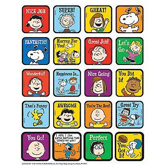 Pegatinas temáticas motivacionales de peanuts