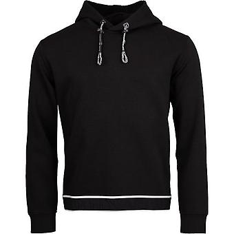Armani Embossed Logo Popover Hooded Top