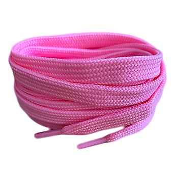 Lacets pink flat trainer shoelaces