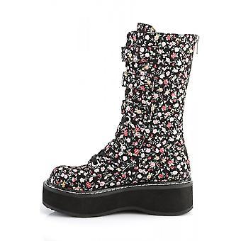 Demonia エミリー 340 花ブーツ