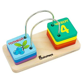 Alatoys Wooden  Set for count, 7 parts learning numbers
