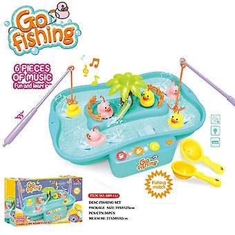 Electric Water Cycle Music Light Baby Play Outdoor Fishing Games