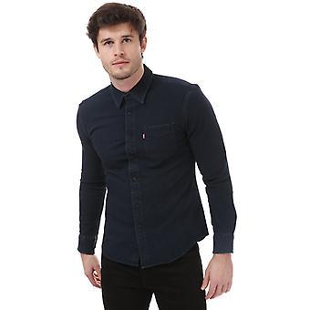 Men's Levis Sunset Slim Stretch Shirt in zwart