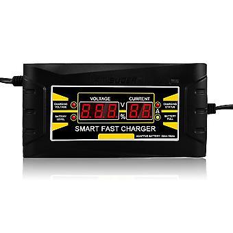 Plein automatique smart 12v 10a plomb acide / gel chargeur de batterie w / écran lcd eu plug rapide