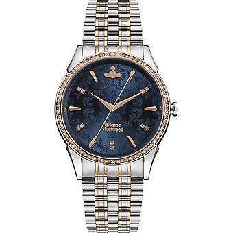 Vivienne Westwood Vv208blsr The Wallace Blue Dial & Two Tone Stainless Steel Dameshorloge