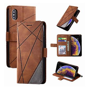 Stuff Certified® Xiaomi Poco X3 Pro Flip Case - Leather Wallet PU Leather Wallet Cover Cas Case Brown
