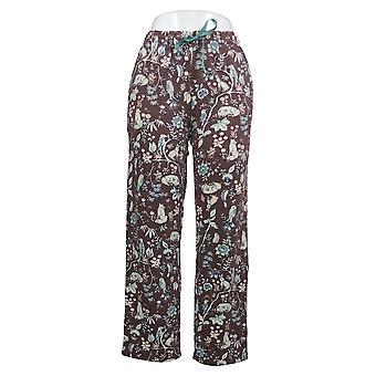 Cuddl Duds Petite Comfortwear Donna Pigiama Brown A381593