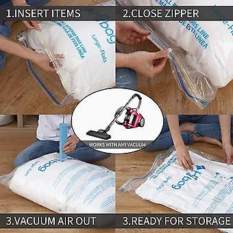 Gerui Vacuum Storage Bags, Space Saver Bags, Pack of 8 (8-Medium)
