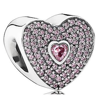 PANDORA Sweetheart Charm - Ausgefallene rosa CZ - 791555CZS