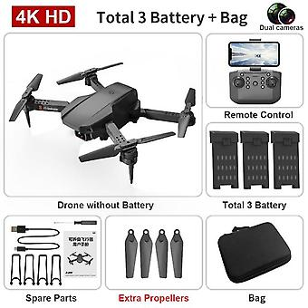 Mini drone 4k hd  dual camera aerial photography fpv wifi folding portable quadcopter remote control real time transmission