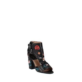 Laurence Dacade | Rush Floral Leather Block Heel Sandals