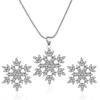 Snowflake Necklace Earrings
