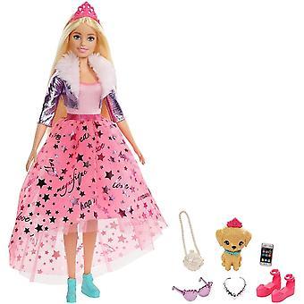 FengChun GML76 - Prinzessinnen-Abenteuer Puppe (ca. 30 cm) mit Mode und Hndchen, fr Kinder von 3