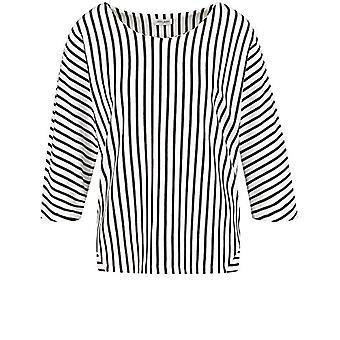 Gerry Weber 370239-35039 T-Shirt, Multicolor (Black/Ecru/White Stripes 1096), (Herstellergro and: 38) Woman