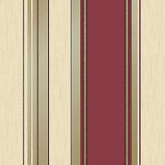 Synergy Stripe Rich Red Wallpaper