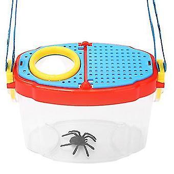 14.5 * 7 * 10.5Cm hyönteislaatikko lapsi opiskelija lelu ulkona luokkahuoneen tarkkailulaatikko 6 kertaa suurennusikkuna hyönteislaatikko suurennuslasi az6586