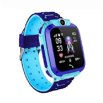 Ceas inteligent casual SOS Ceas ceas inteligent pentru copii cu cartela SIM foto impermeabil IP67 copii cadou albastru