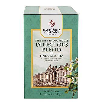 חברת הודו המזרחית - תה ירוק תערובת של מנהל בית הודו המזרחית (20 שקיקי תה שקית בודדים)
