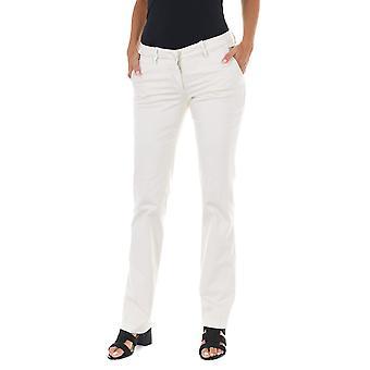 MET pantalones de mujer Taormina blanco
