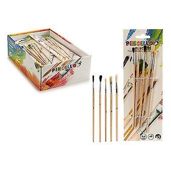 Paintbrushes Wood Metal (5 peças)