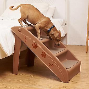 Kaffee klappbare Hund Treppe Haustier 4 Stufen Treppe für Katze Hund Haus Haustier Rampe Leiter Anti-rutsch abnehmbare Hunde Bett Treppe fa1141