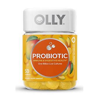 Olly Probiotic Gummy Tropical Mango, 0, 50 Gummies