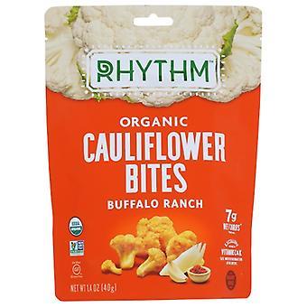 Rhythm Superfoods Bites Cauliflwr Bffl Rnch, Case of 8 X 1.4 Oz