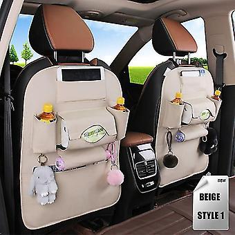 Pu Leather Pad Bag Car Seat Back Organizer Foldable Travel Storage Bag Foldable Car Seat Storage