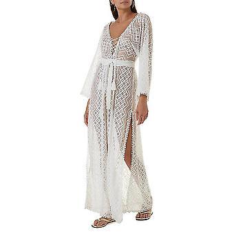 Δαντελένιο μπικίνι κάλυψη μέχρι suncreen γραβάτα μέχρι suncreen Kaftan beachwear φόρεμα