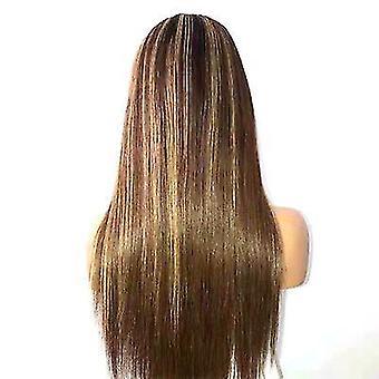 Modieuze vrouwen pruiken gradiënt benadrukken medium lengte steil haar