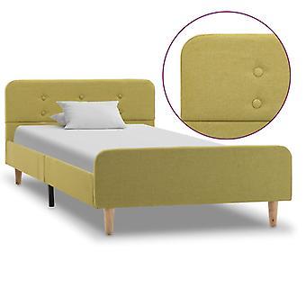 "vidaXL מסגרת מיטה בד ירוק 100×200 ס""מ"