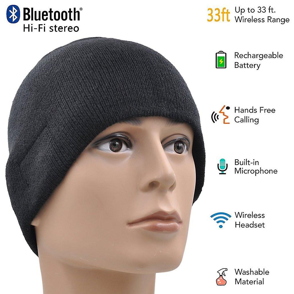 ONX3 Alcatel Pop D5 (schwarz) Unisex Einheitsgröße Winter Bluetooth Komischer Hut mit eingebauten Stereo-Funklautsprecher Kopfhörer
